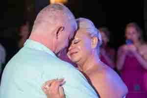 Kesha and Kevin Wedding dancing in Paamul Playa del Carmen